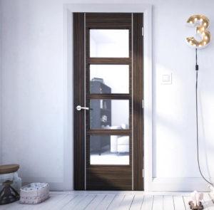 Glazed Abachi Doors
