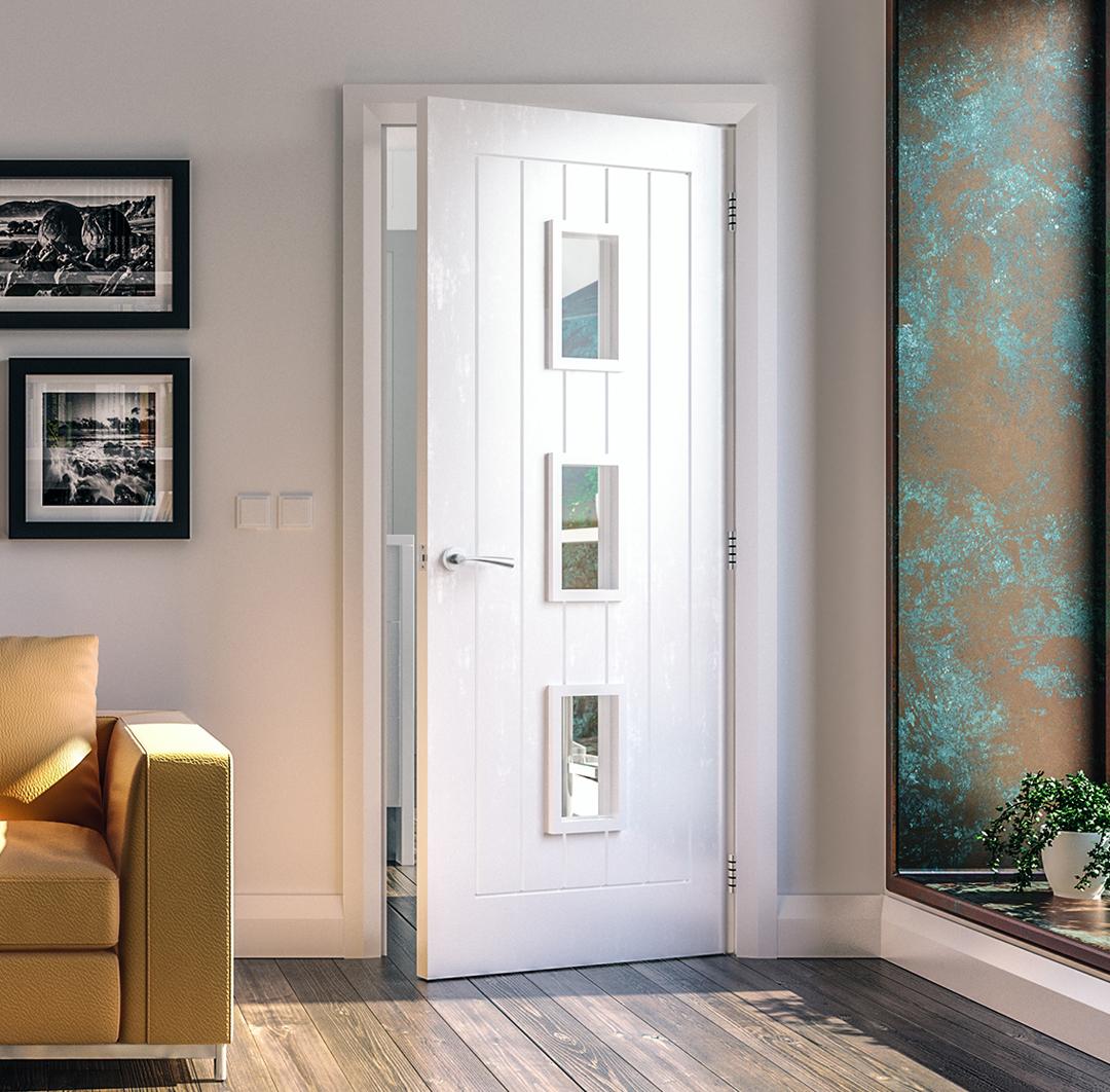 Floorz 'n' Doorz Primed Glazed Door