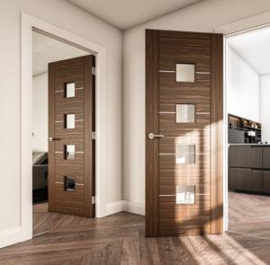 Glazed Walnut Doors