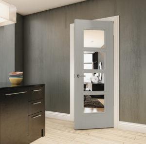 Glazed Grey Doors