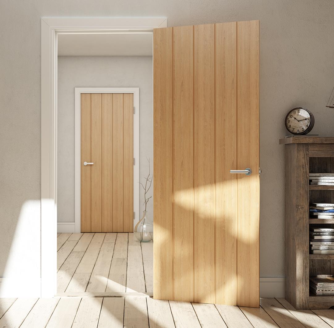 Floorz 'n' Doorz Oak Solid Door